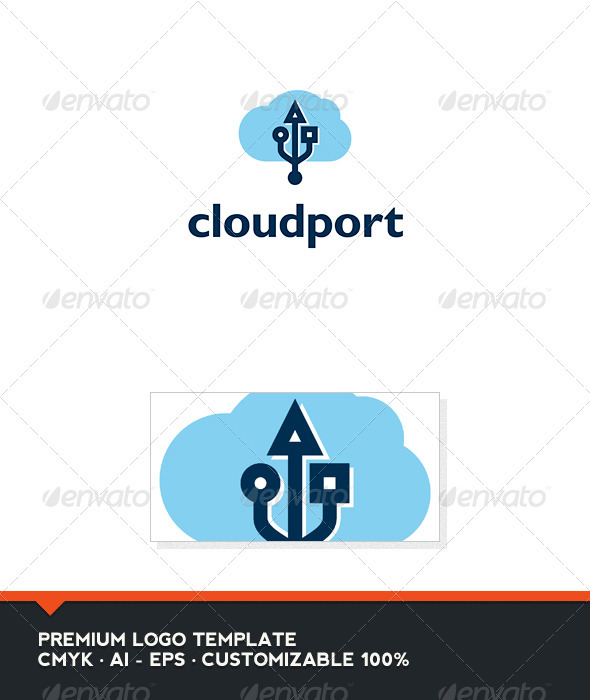 Cloud Port Logo Template - Symbols Logo Templates