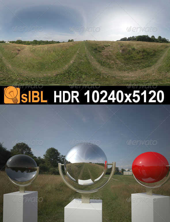 HDR 067 Grass Field sIBL - 3DOcean Item for Sale