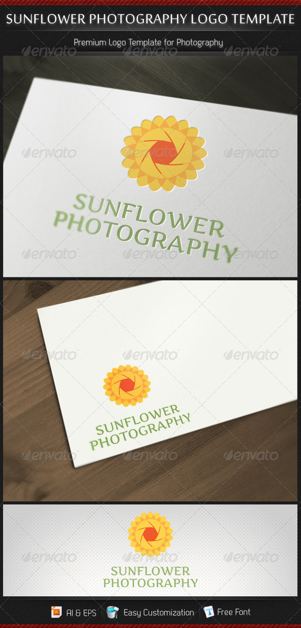 Sunflower Photography Logo Template - Nature Logo Templates
