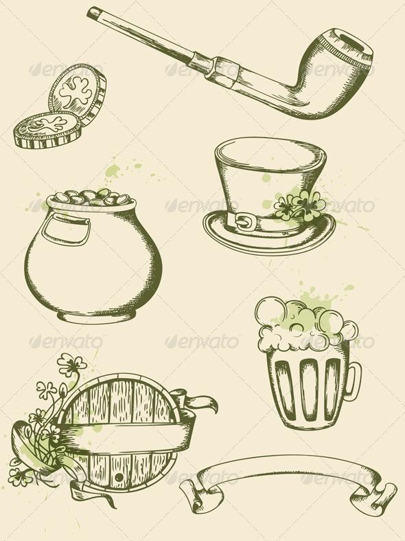 Saint Patrick's Day Symbols - Miscellaneous Seasons/Holidays