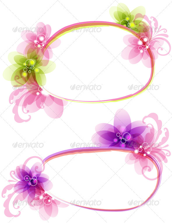 Abstract  Floral Banner - Backgrounds Decorative