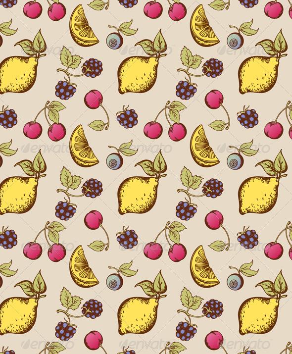 Fruit  Seamless Pattern - Patterns Decorative