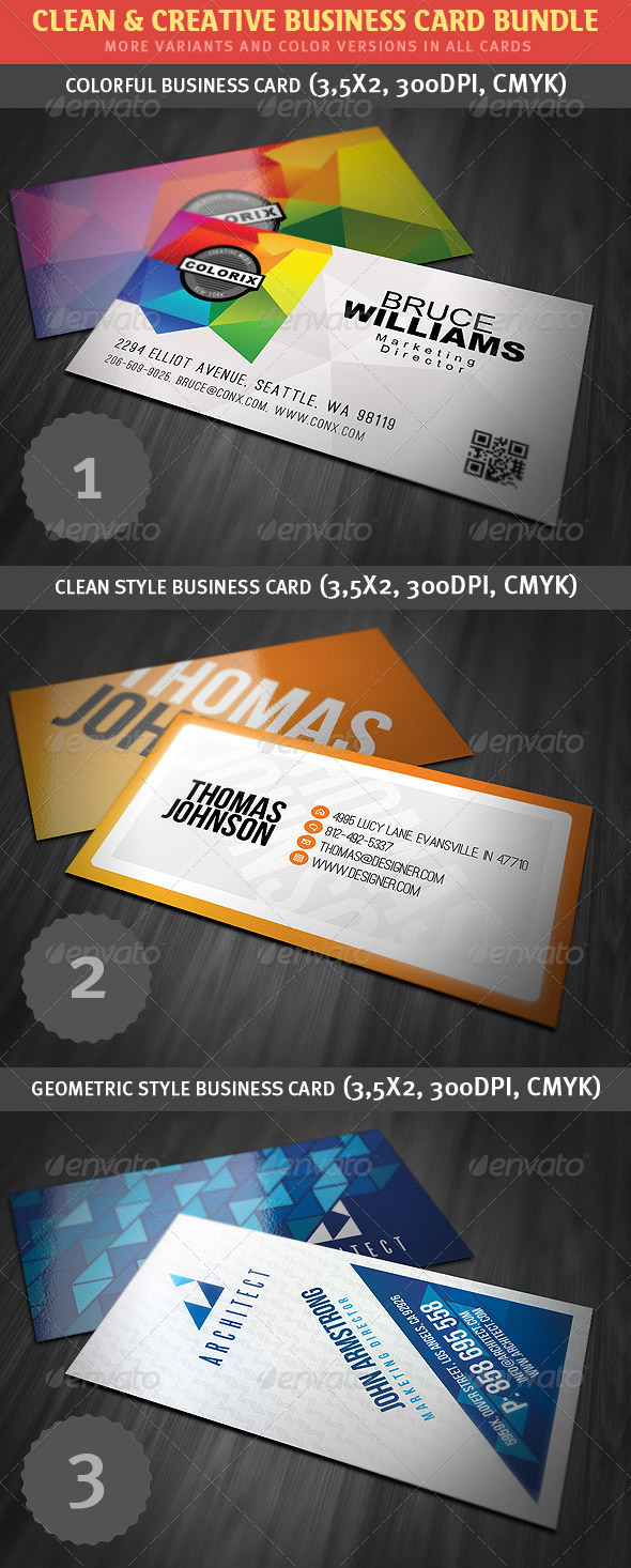 Clean & Creative Business Card Bundle - Creative Business Cards
