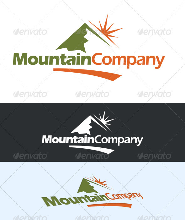 Mountain Company Logo - Nature Logo Templates