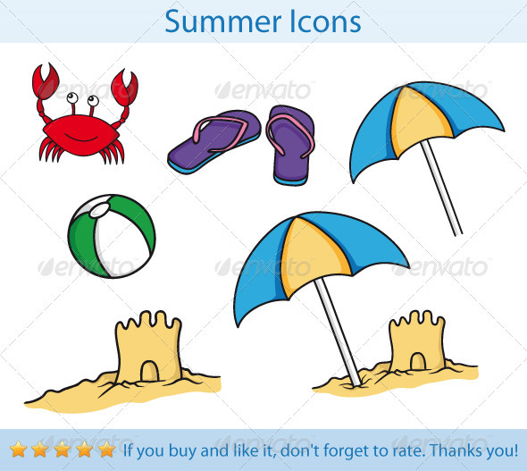 Summer Icons - Seasons/Holidays Conceptual
