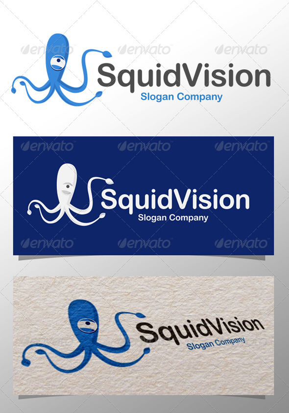 Squid Vision Logo - Animals Logo Templates