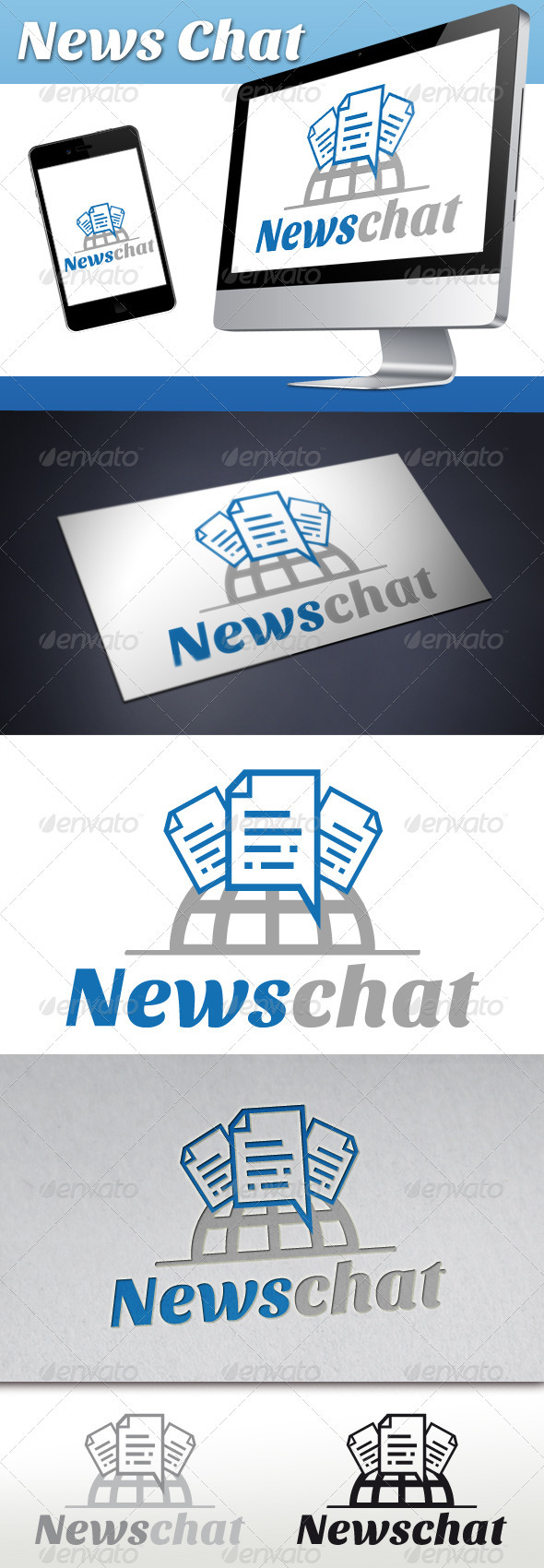 News Chat Logo - Objects Logo Templates