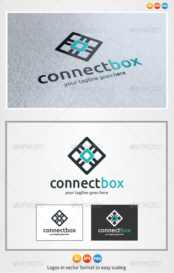Connect Box Logo - Symbols Logo Templates