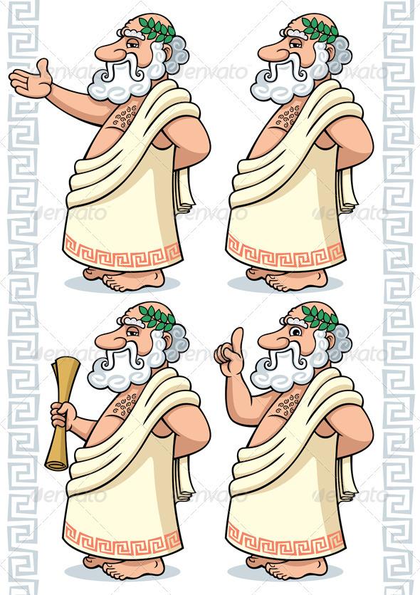 Greek Philosopher - Characters Vectors