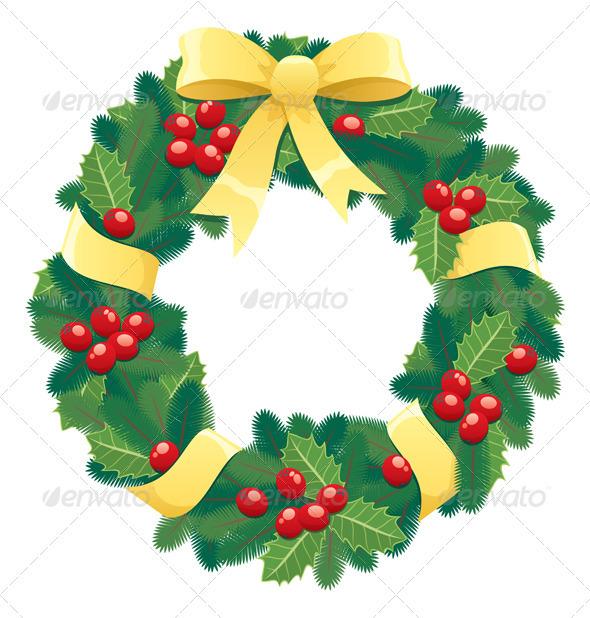 Christmas Wreath By Malchev