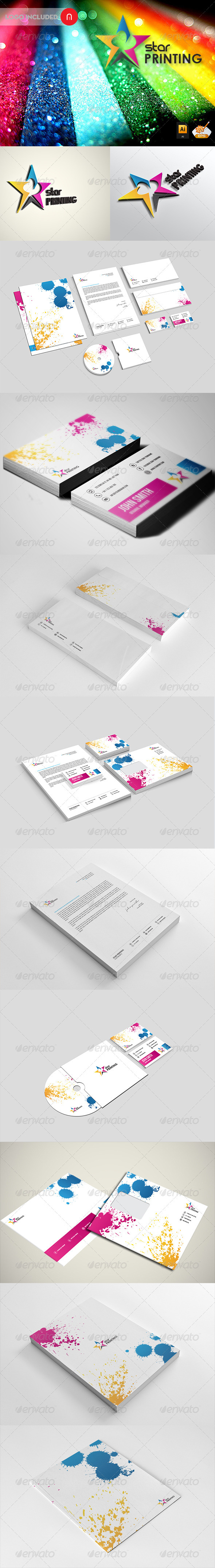 Stationary & Identity -Star Printing - Stationery Print Templates
