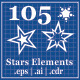 105 Stars Element - GraphicRiver Item for Sale