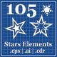 105 Stars Element - GraphicRiver Item for Sale