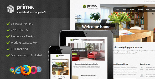 Free Download Prime - Simple Business Template 3 Nulled Latest Version