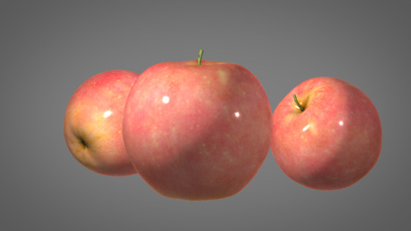 Realistic Apple with Shader - 3DOcean Item for Sale