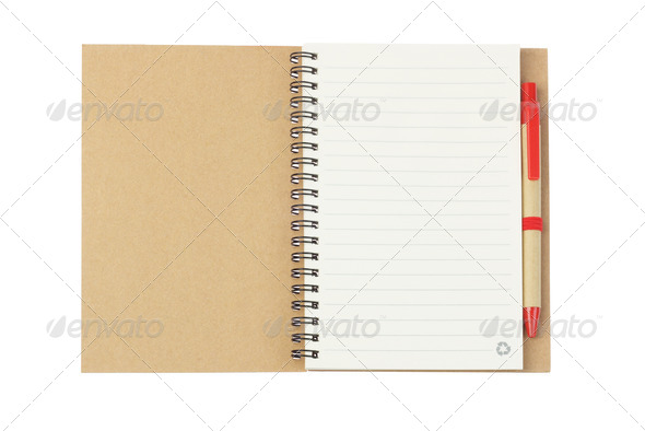Notebook and Ballpoint Pen - Stock Photo - Images