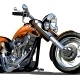 Vector Cartoon Motorbike - GraphicRiver Item for Sale