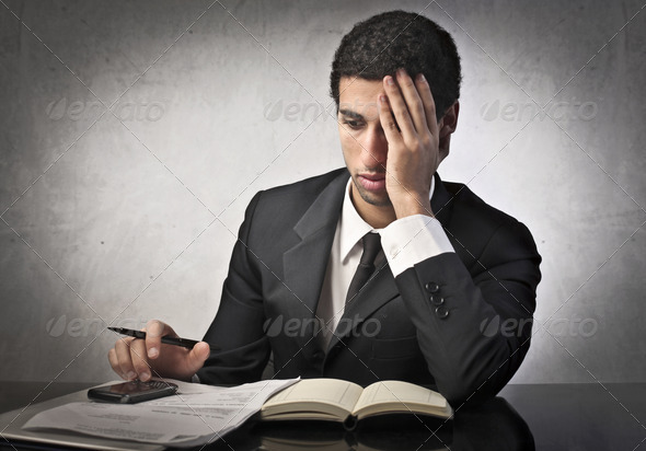 Stressed Businessman - Stock Photo - Images