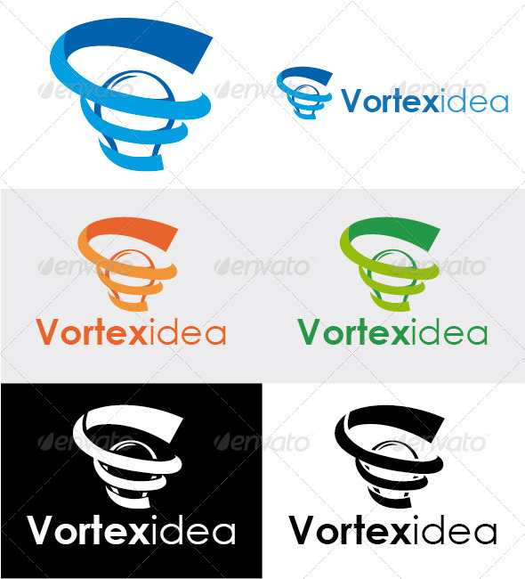 Vortexidea Solution Logo - Symbols Logo Templates