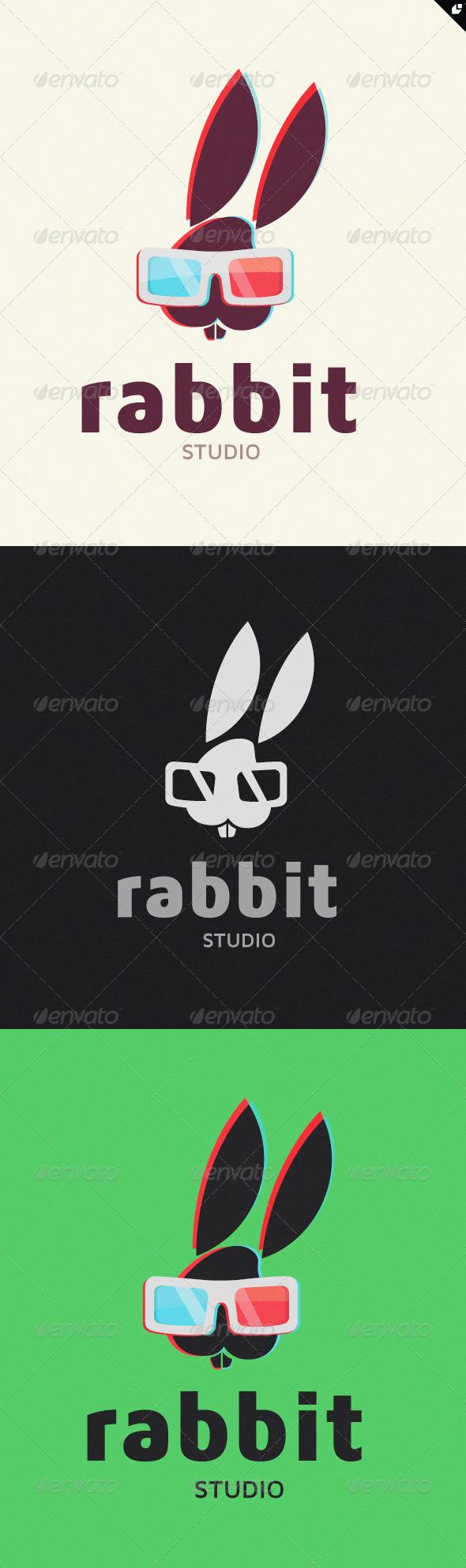 Rabbit Studio Logo - Animals Logo Templates