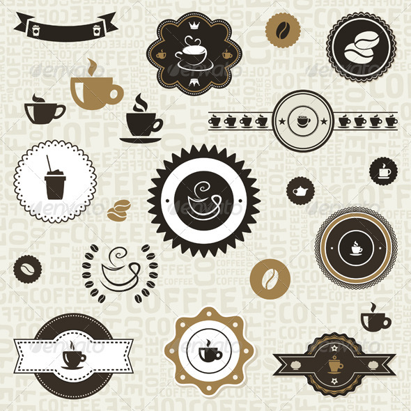 Coffee label2 - Food Objects