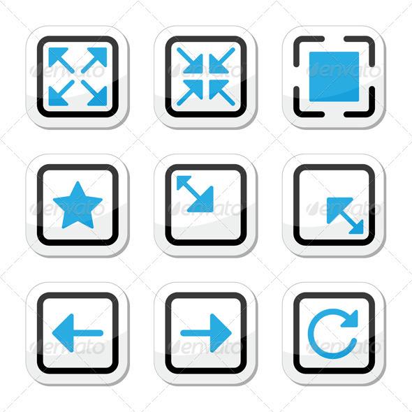 Web page screen size icons set - Web Elements Vectors