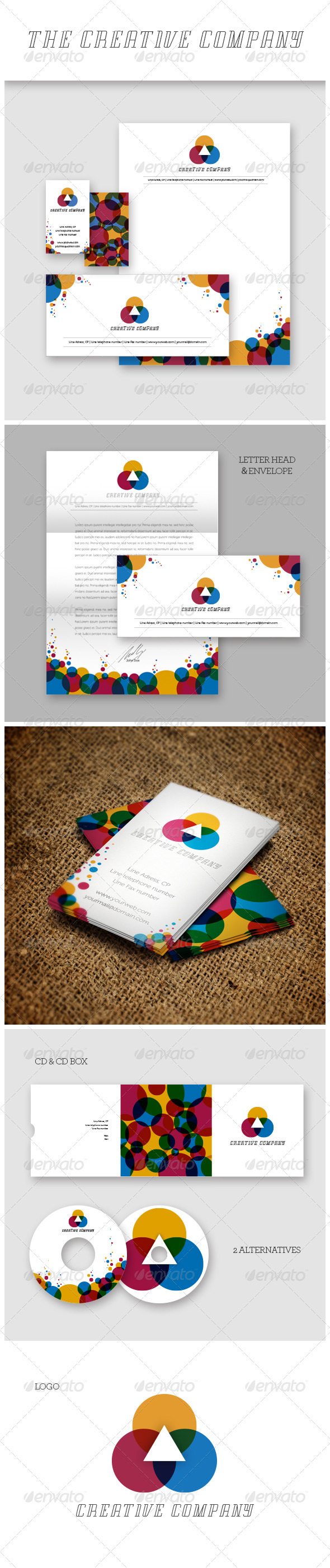 Creative Company Identity - Stationery Print Templates