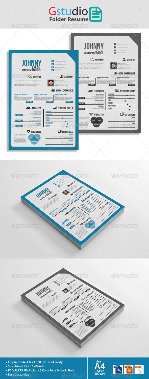 Gstudio Folder Resume - Resumes Stationery