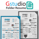 Gstudio Folder Resume - GraphicRiver Item for Sale