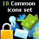 18 Premium icons - Common icons Set - GraphicRiver Item for Sale