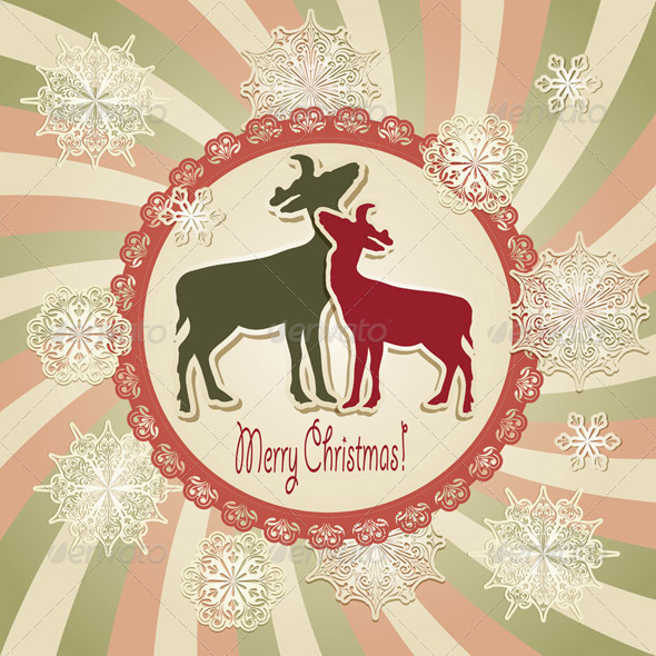 Vector Christmas Scrapbook Greeting Card - Christmas Seasons/Holidays