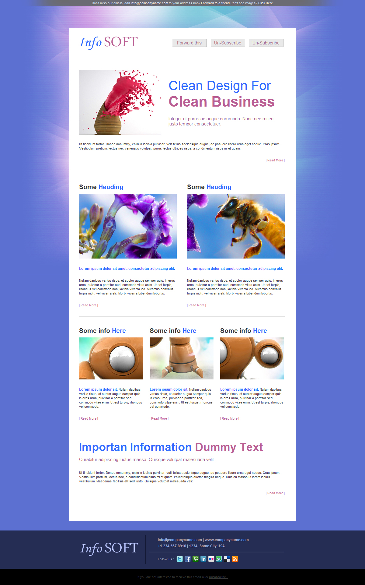 Free Download InfoSoft - Professional Email Template - 5 Layout Nulled Latest Version