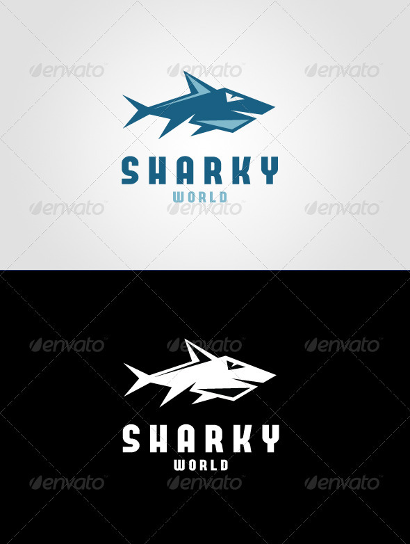 Sharky World Logo Template - Animals Logo Templates