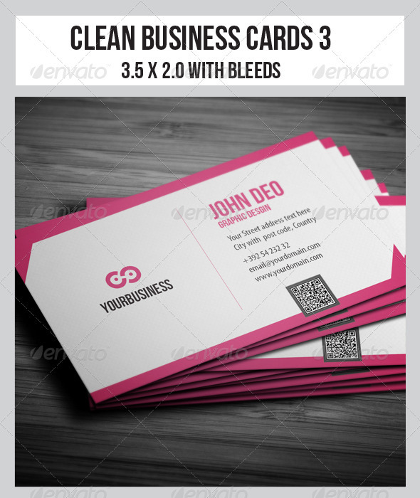Clean Business Cards  3 - Corporate Business Cards
