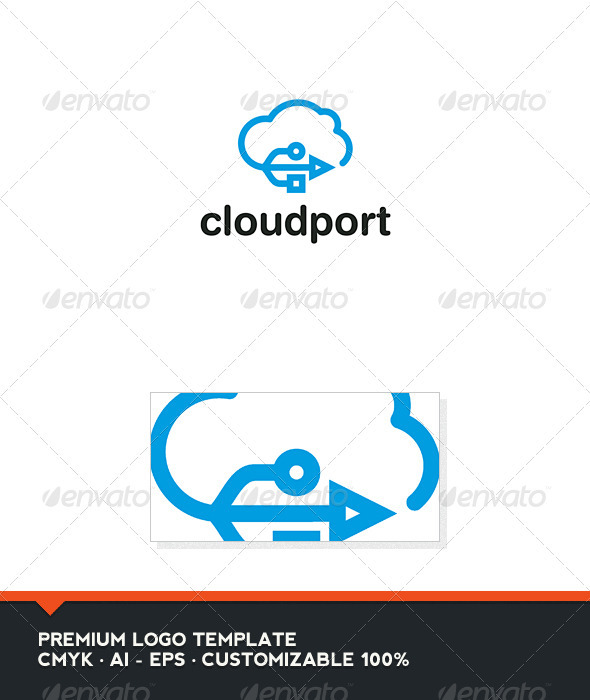 Cloud Port 2 Logo Template - Objects Logo Templates