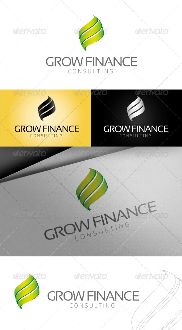 Grow Finance Logo - Vector Abstract