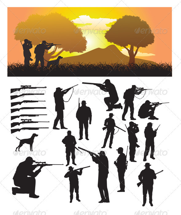 Hunter Silhouette - Sports/Activity Conceptual