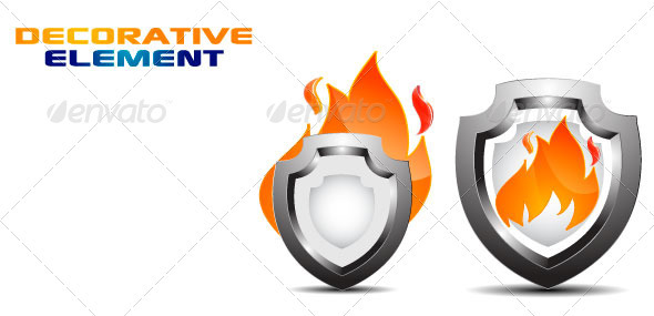 FireShield Decorative Element Vector - Objects Vectors