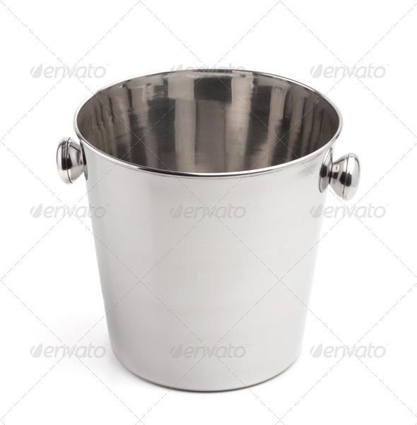 Empty champagne ice bucket - Stock Photo - Images