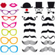 Mustache And Spectacles, Vector Set - GraphicRiver Item for Sale
