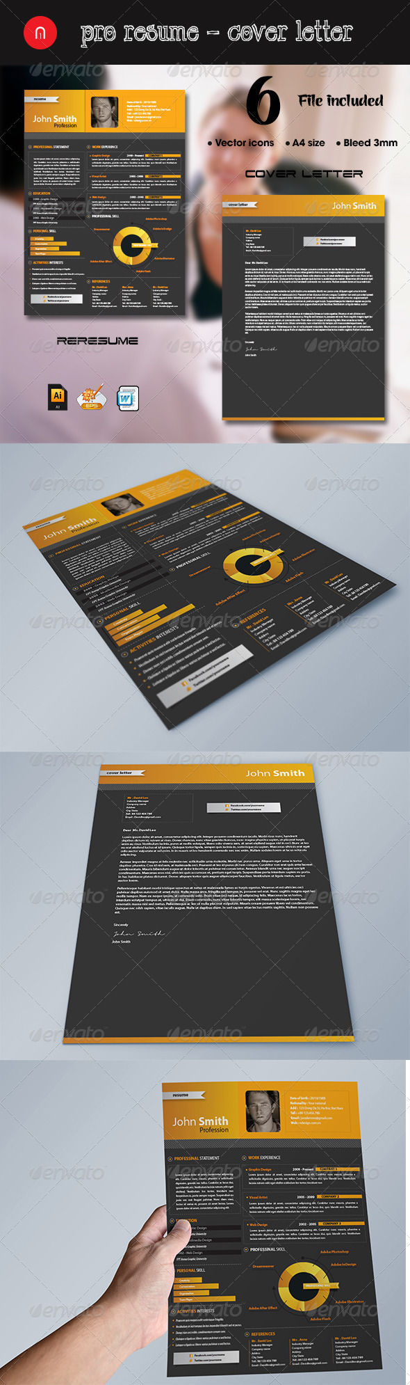 Pro Resume + Cover Letter - Resumes Stationery
