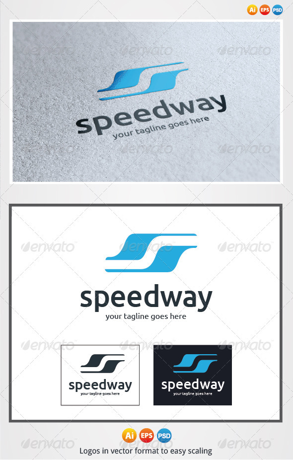 Speed Way Logo - Letters Logo Templates