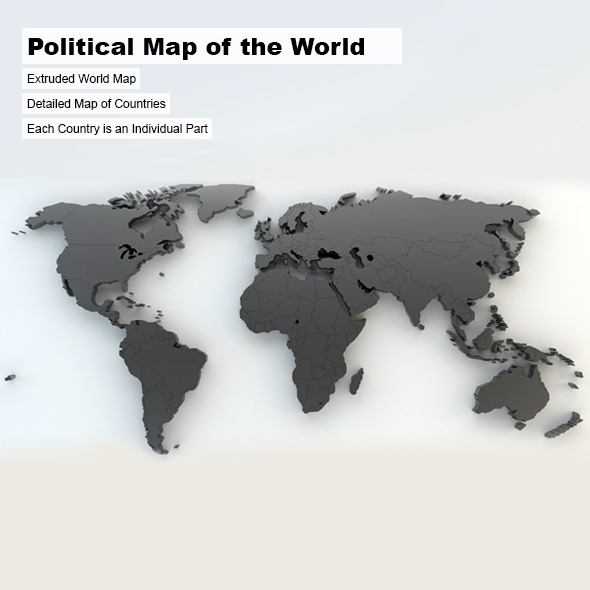 Political Map of the World - 3DOcean Item for Sale