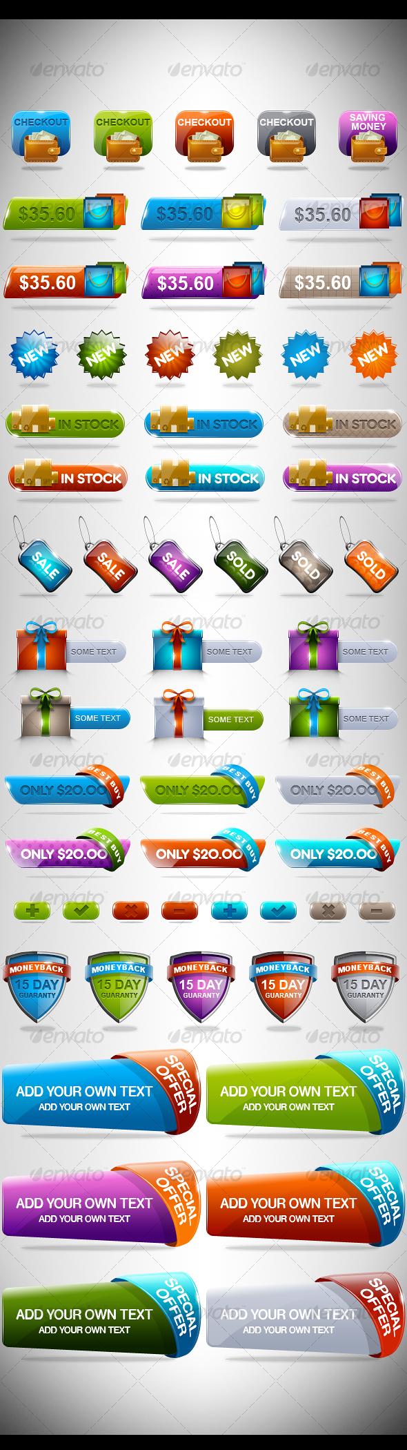 Rainbow Sale Set 2 - Web Elements