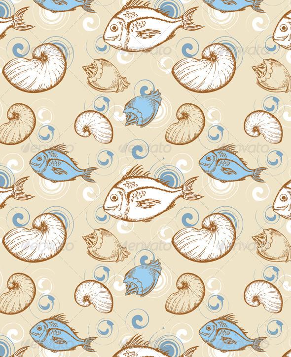 Marine Seamless Pattern - Patterns Decorative