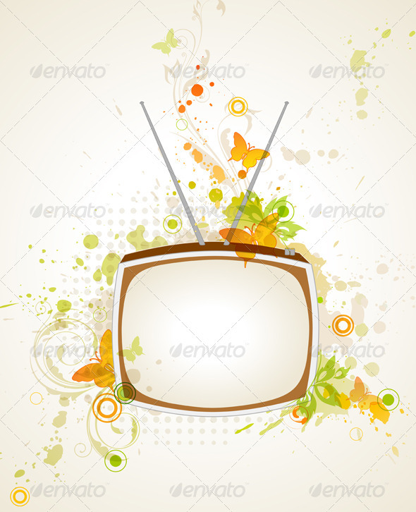 Background with Retro TV - Retro Technology