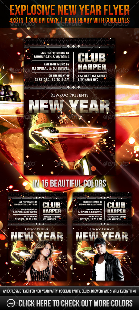 Explosive New Year Flyer