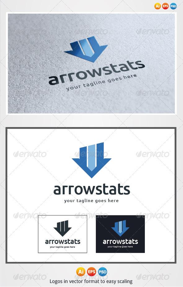 Arrow Stats Logo - Symbols Logo Templates