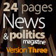 24 Pages News & Politics Magazine Version Three - GraphicRiver Item for Sale