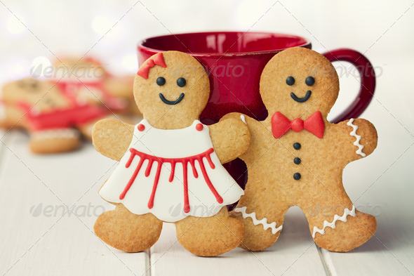 Gingerbread couple - Stock Photo - Images